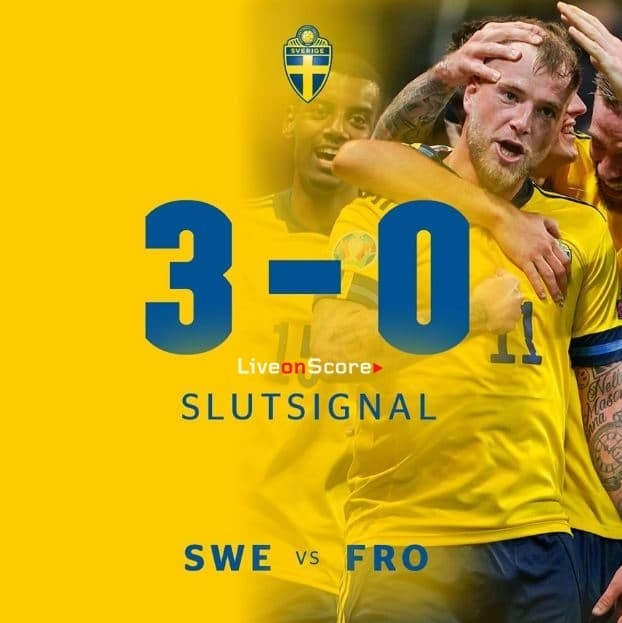 Sweden 3-0 Faroe Islands Full Highlight Video – EURO 2020 Qualification