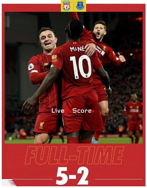 Liverpool 5-2 Everton Full Highlight Video – Premier League