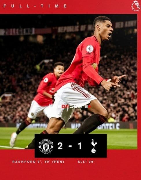 Manchester Utd 2-1 Tottenham Full Highlight Video – Premier League