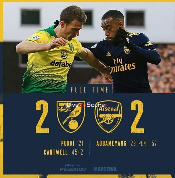 Norwich 2-2 Arsenal Full Highlight Video – Premier League