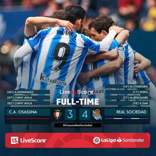 Osasuna 3-4 Real Sociedad Full Highlight Video – LaLiga Santander