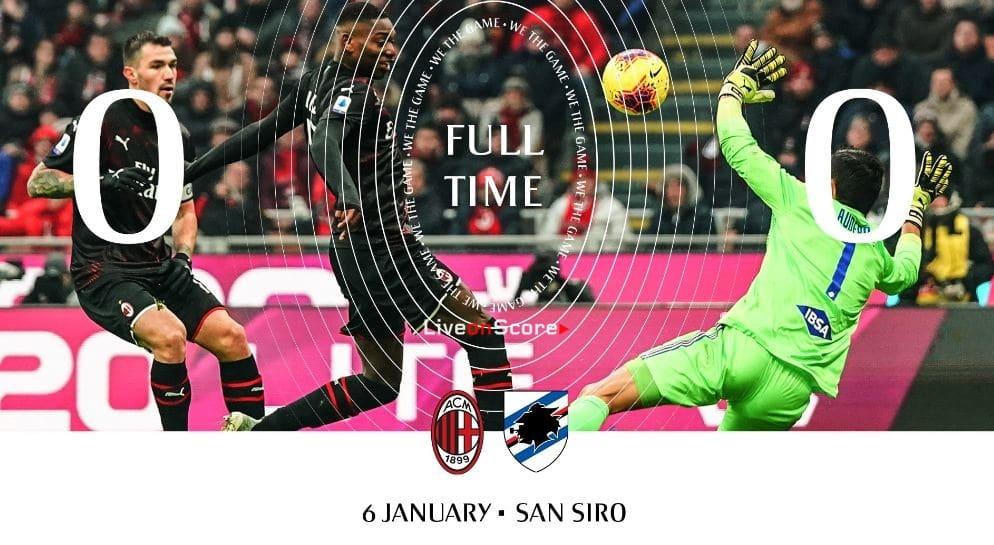 AC Milan 0-0 Sampdoria Full Highlight Video – Serie Tim A