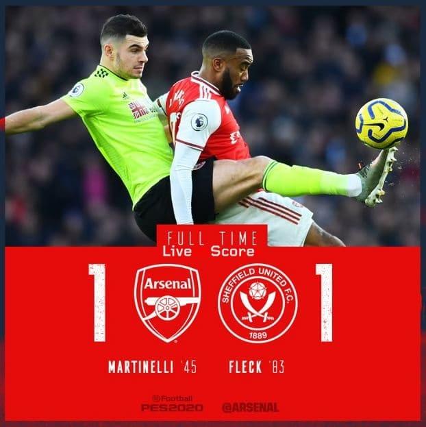 Arsenal 1-1 Sheffield Utd Full Highlight Video – Premier League