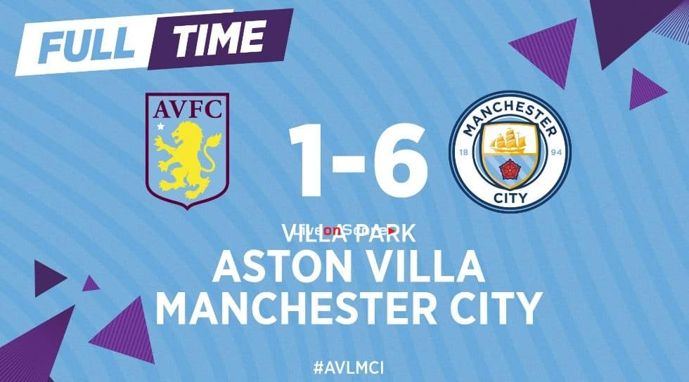Aston Villa 1-6 Manchester City Full Highlight Video – Premier League