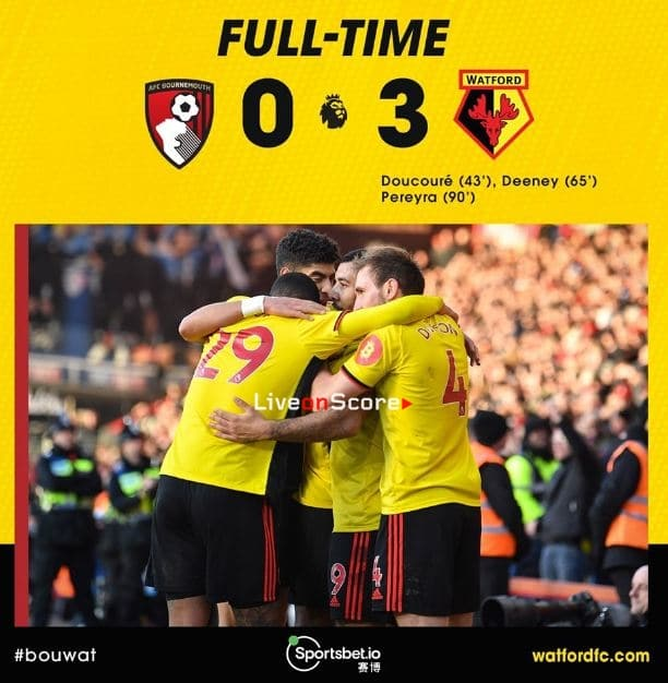 Bournemouth 0-3 Watford Full Highlight Video – Premier League