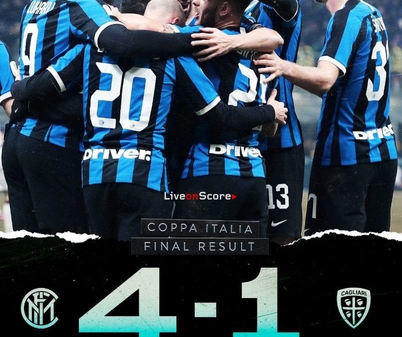 Inter 4-1 Cagliari Full Highlight Video – Coppa Italia