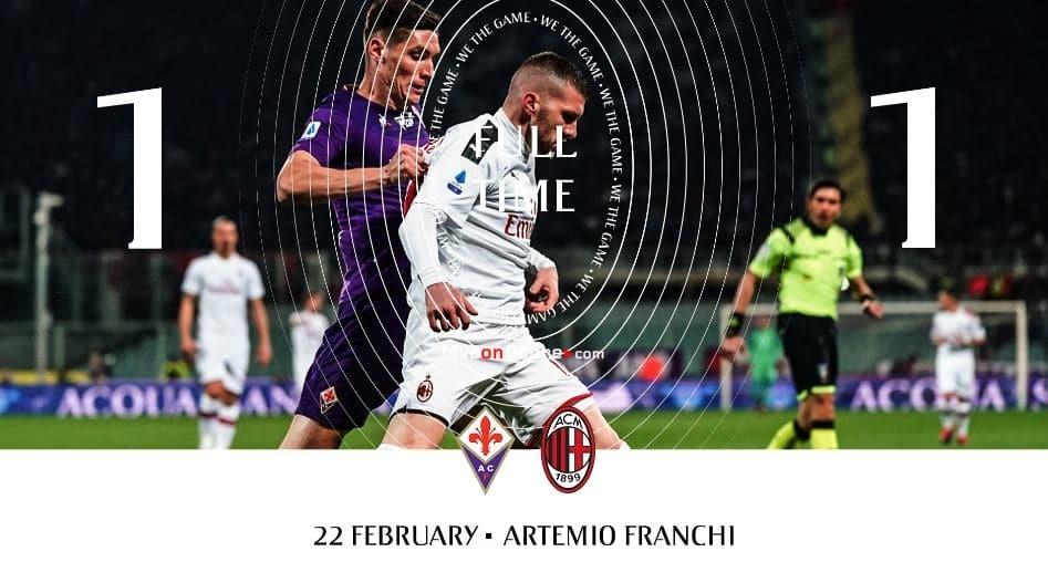 Fiorentina 1-1 AC Milan video destacado - Serie Tim A