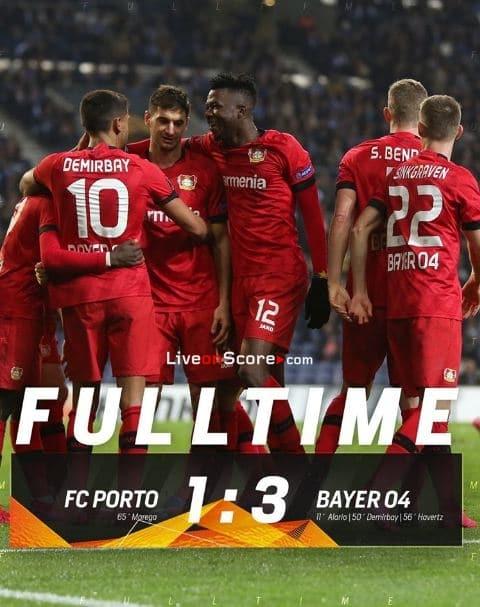Porto 1-3 Bayer Leverkusen Uefa Europa League 1/16 Final ...