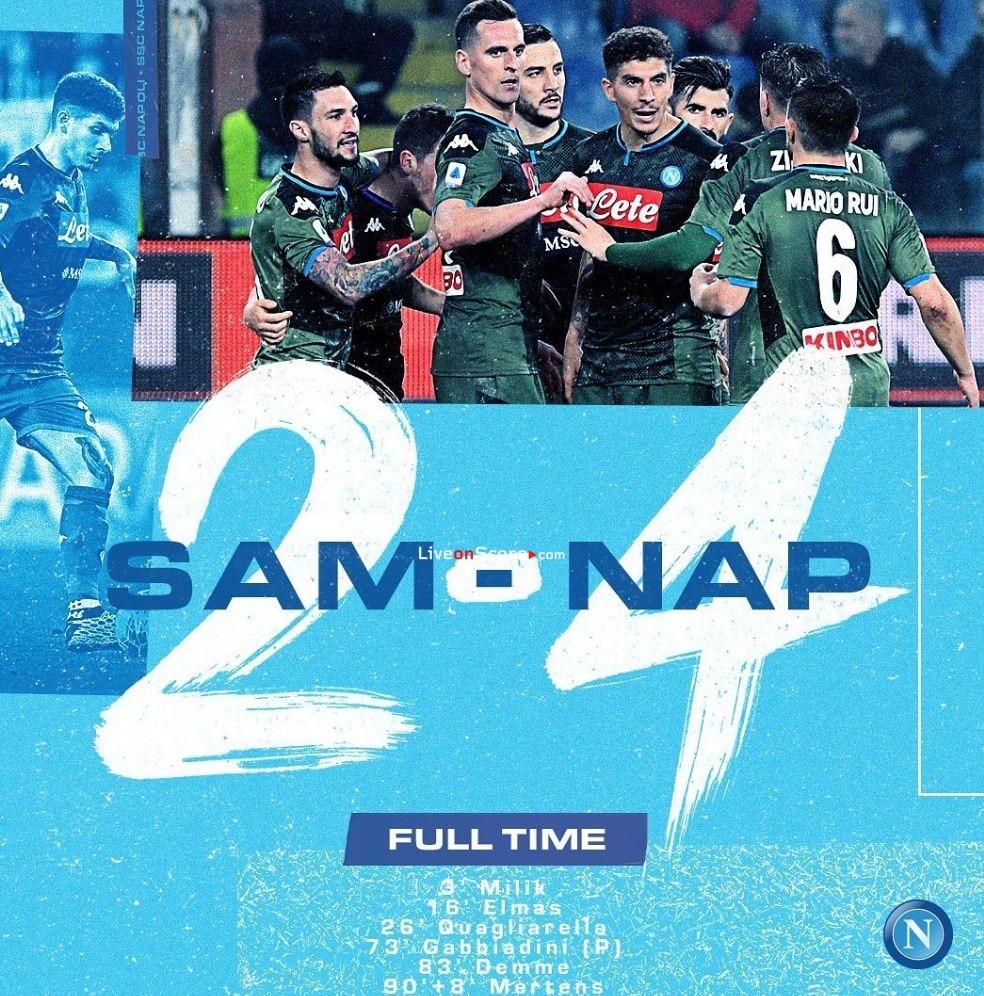 Sampdoria 2-4 Napoli Full Highlight Video – Serie Tim A