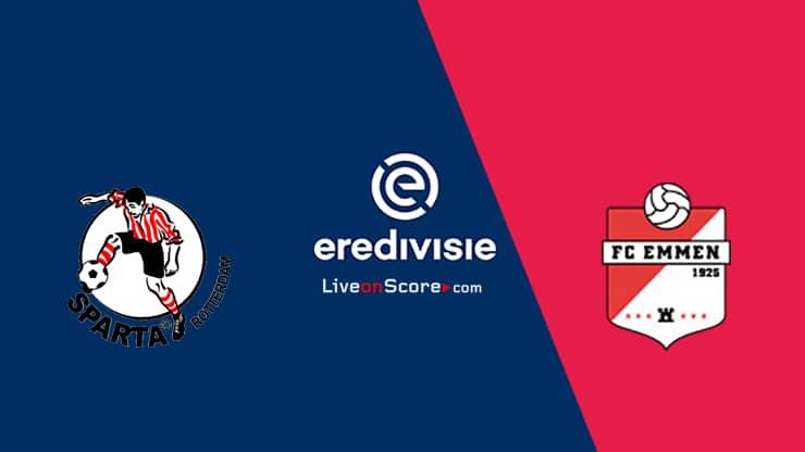 Sparta Rotterdam vs FC Emmen Prediccion y Pronostico Transmision en vivo - Eredivisie 2020