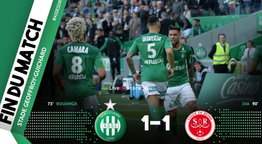 St Etienne 1-1 Reims Full Highlight Video – France Ligue 1