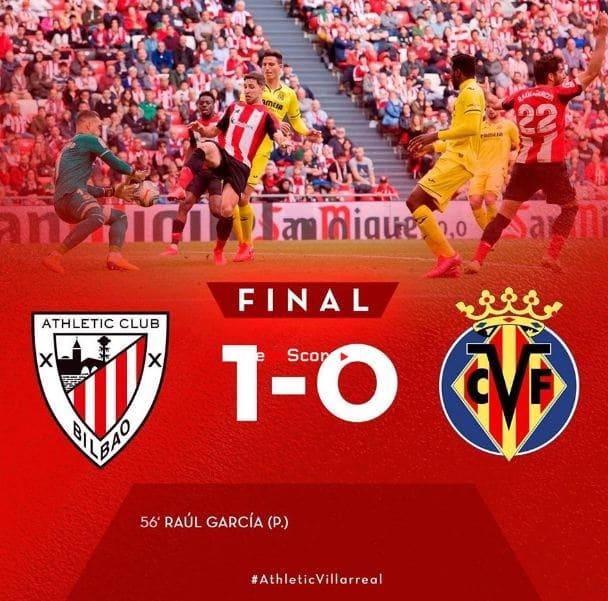 Ath Bilbao 1-0 Villarreal Goles y resultado - LaLiga Santander