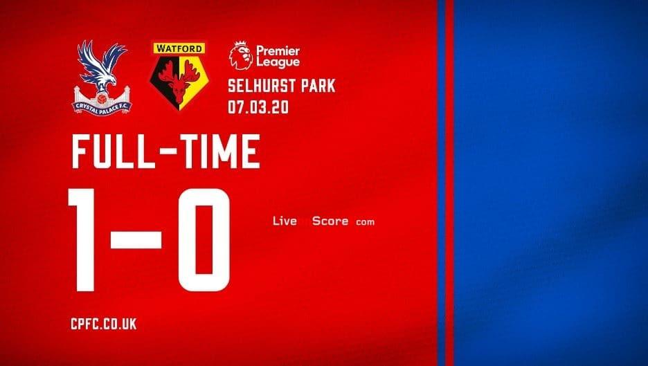 Crystal Palace 1-0 Watford Goles y resultado - Premier League
