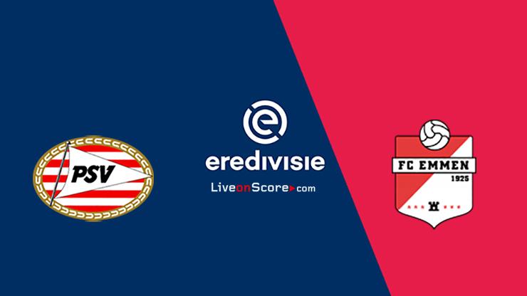 PSV vs FC Emmen Predicción y transmisión en vivo - Eredivisie 2020