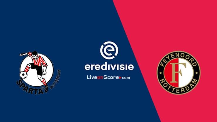 Sparta Rotterdam vs Feyenoord Previa y Predicción Transmision en vivo - Eredivisie 2020