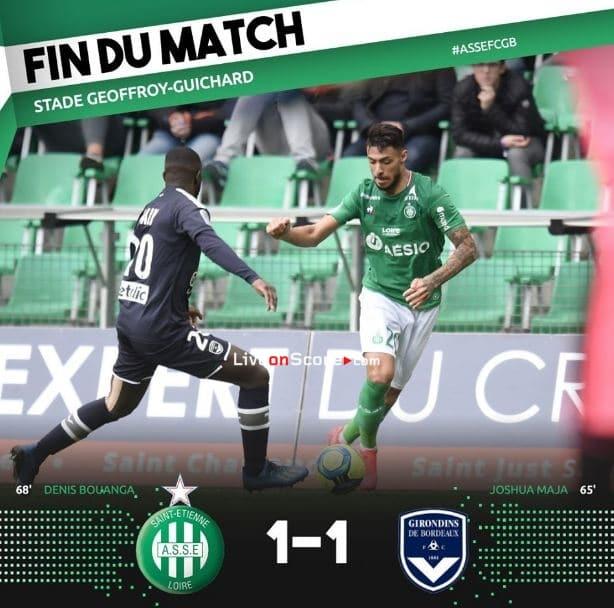 St Etienne 1-1 Bordeaux Full Highlight Video – France Ligue 1