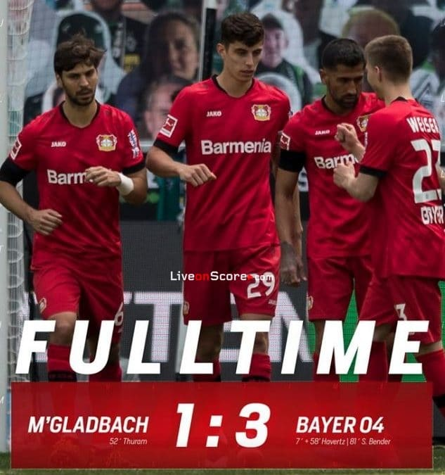 B. Monchengladbach 1-3 Bayer Leverkusen Full Highlight Video – Bundesliga