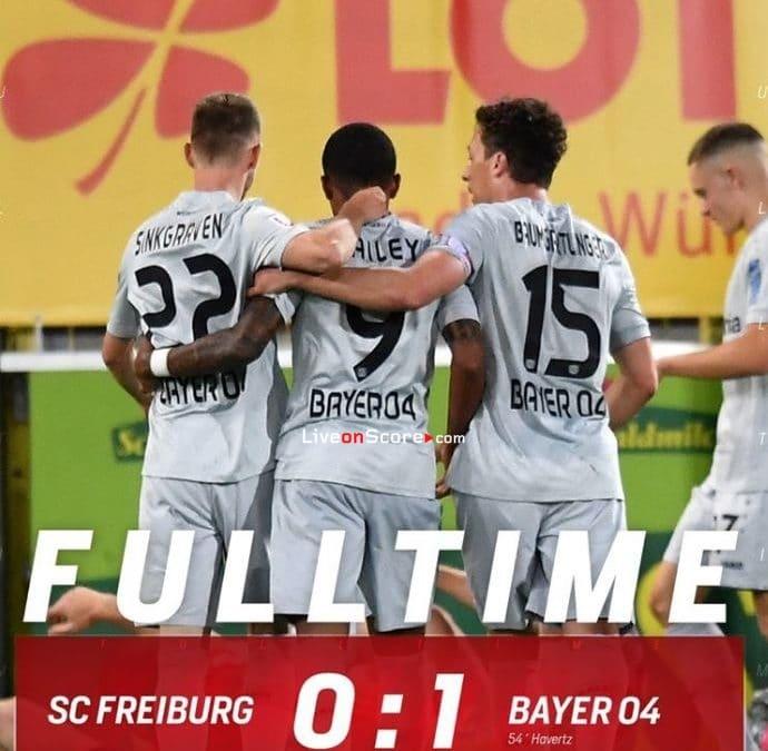 Freiburg 0-1 Bayer Leverkusen Goles y resultado - Bundesliga