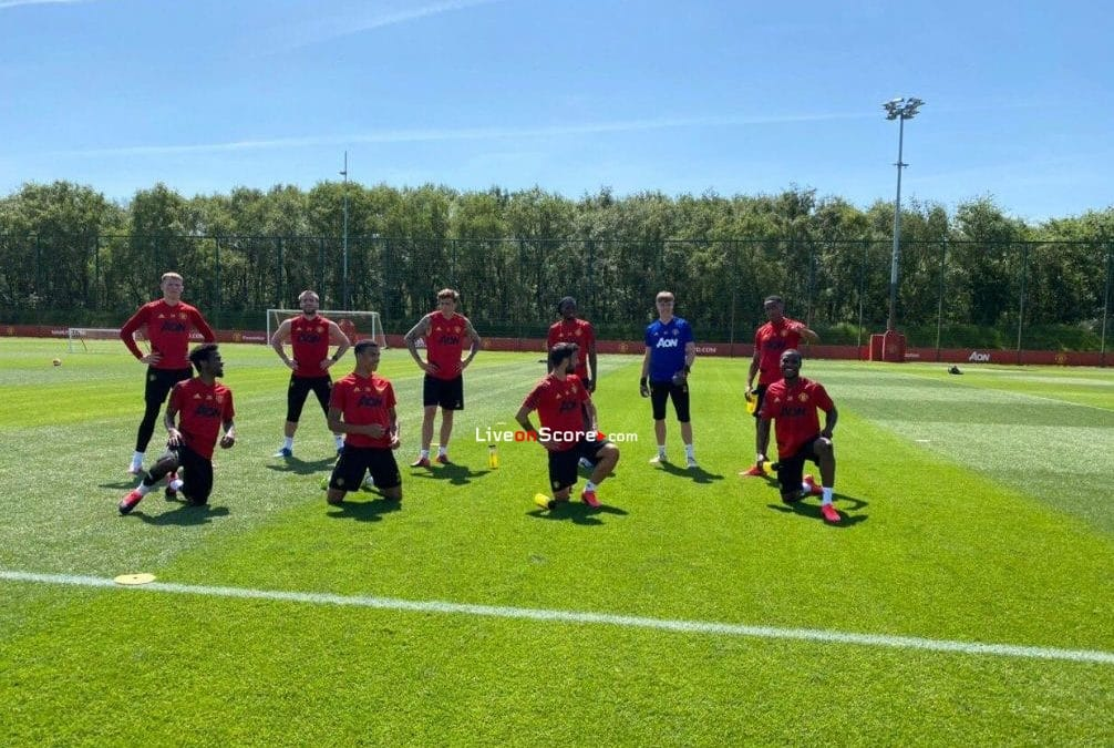 Manchester United were hard at work again in the Carrington