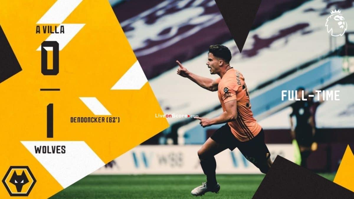 Aston Villa 0-1 Wolves Goles y resultado - Premier League