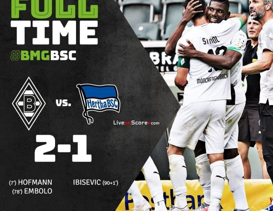B. Monchengladbach 2-1 Hertha Berlin Full Highlight Video – Bundesliga