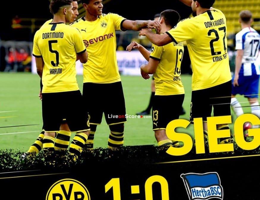 Dortmund 1-0 Hertha Berlin Goles y resultado - Bundesliga