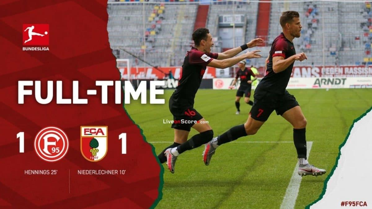 Dusseldorf 1-1 Augsburg Full Highlight Video – Bundesliga