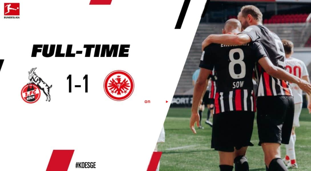 FC Koln 1-1 Eintracht Frankfurt Full Highlight Video – Bundesliga