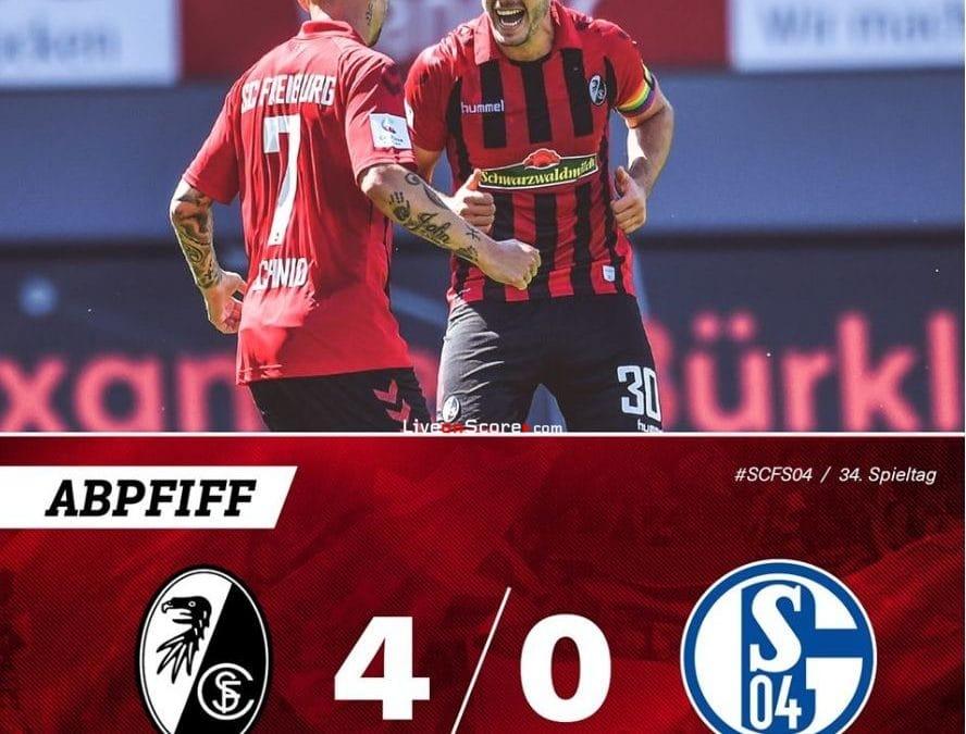 Freiburg 4-0 Schalke Goles y resultado - Bundesliga