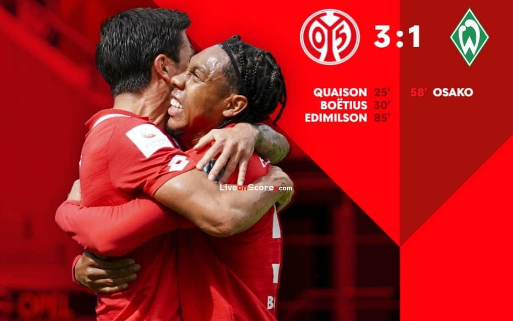 Mainz 3-1 Werder Bremen Full Highlight Video – Bundesliga