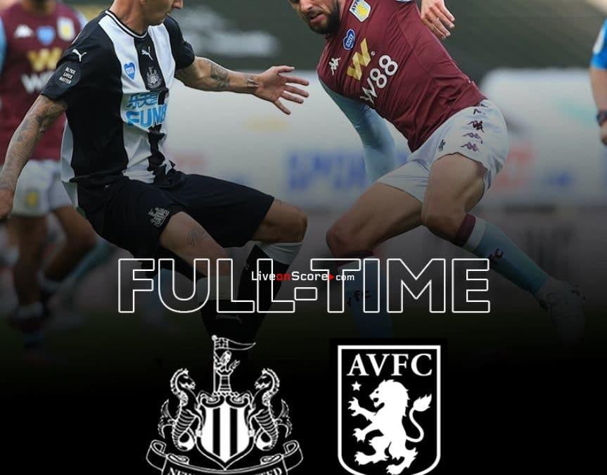 Newcastle 1-1 Aston Villa Goles y resultado - Premier League