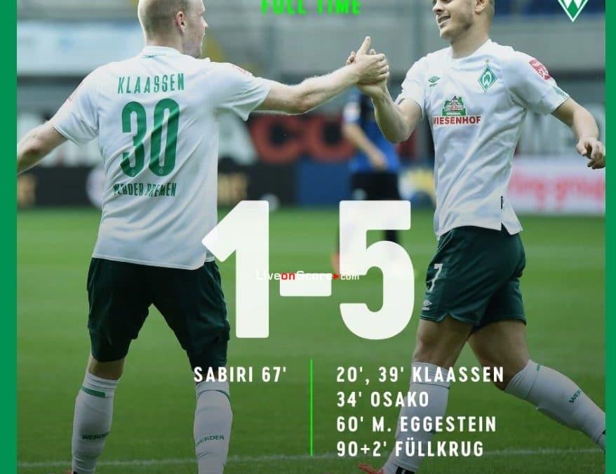 Paderborn 1-5 Werder Bremen Goles y resultado - Bundesliga