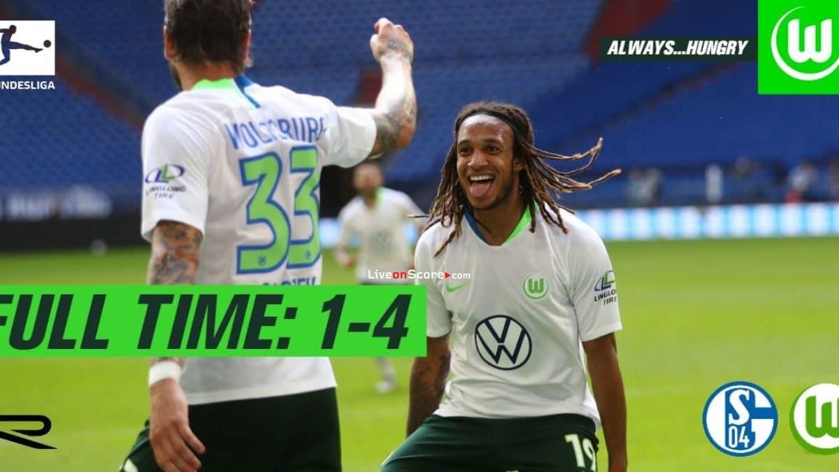 Schalke 1-4 Wolfsburg Full Highlight Video – Bundesliga
