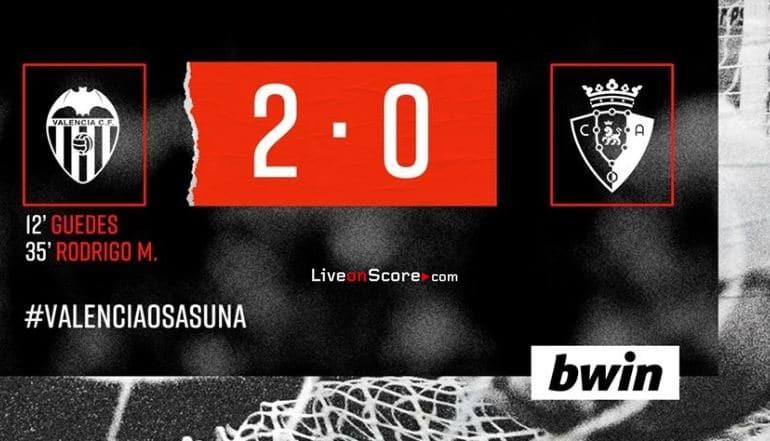 Valencia 2-0 Osasuna Full Highlight Video – LaLiga Santander