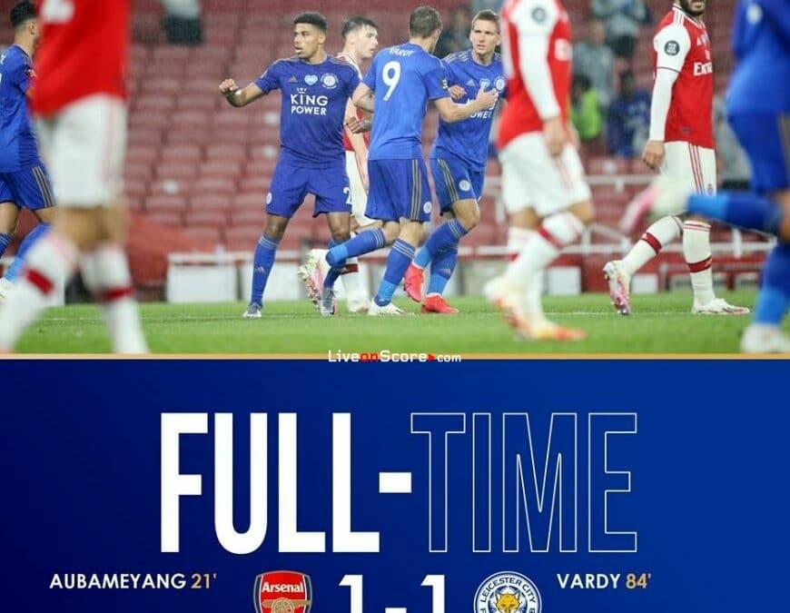 Arsenal 1-1 Leicester Full Highlight Video – Premier League