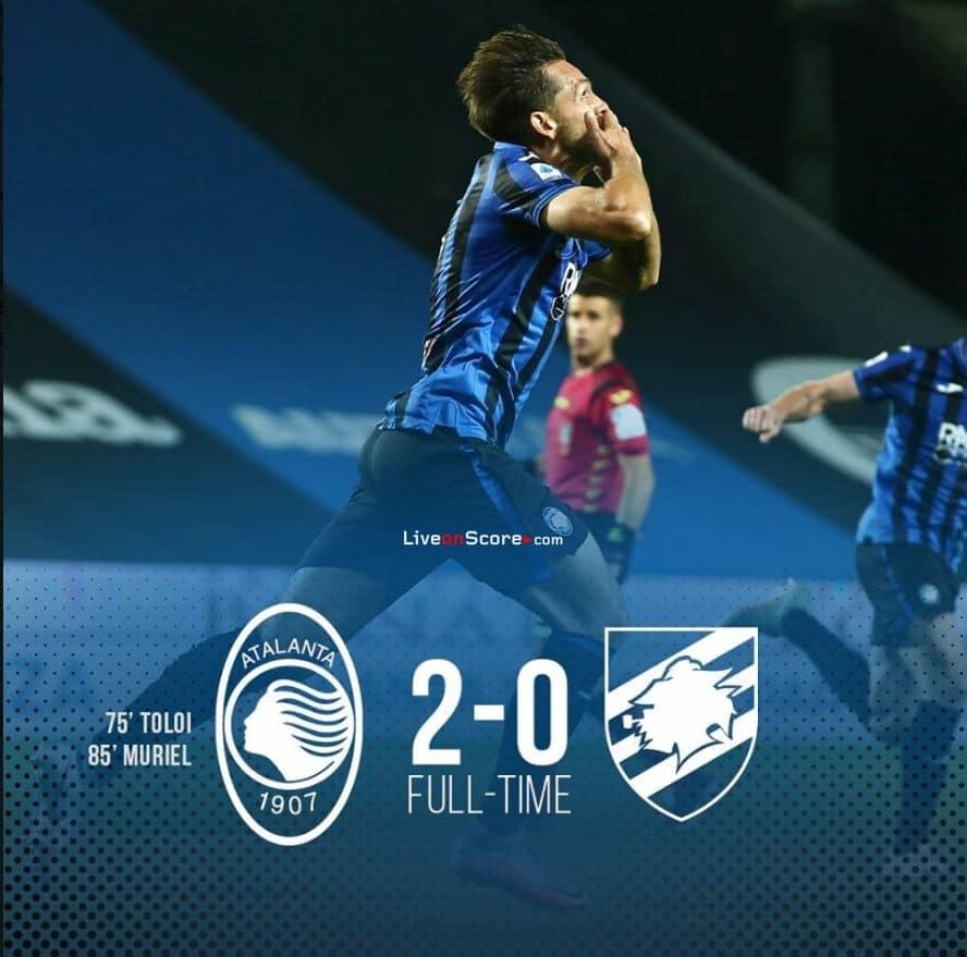 Atalanta 2:0  Sampdoria ( მიმოხილვა )