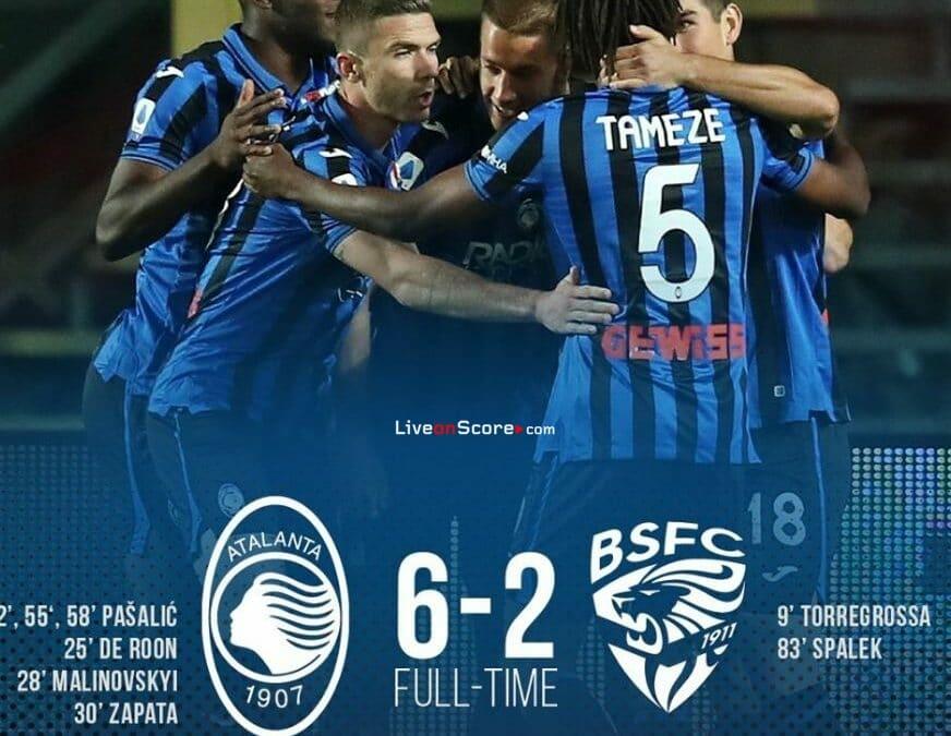 Atalanta 6-2 Brescia Full Highlight Video – Serie Tim A