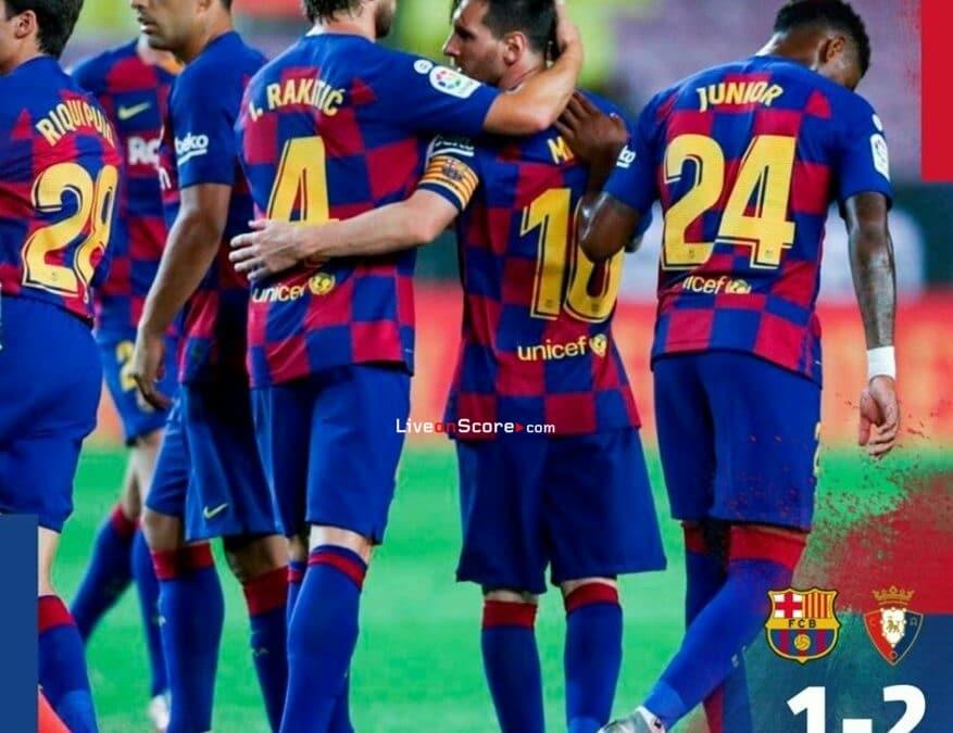 Barcelona 1-2 Osasuna Full Highlight Video – LaLiga Santander