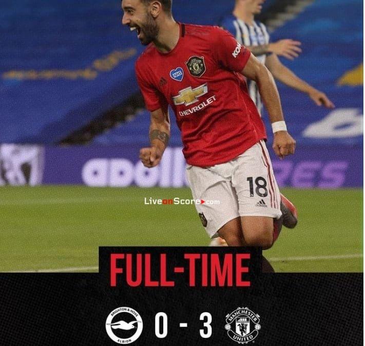 Brighton 0-3 Manchester Utd Full Highlight Video – Premier League