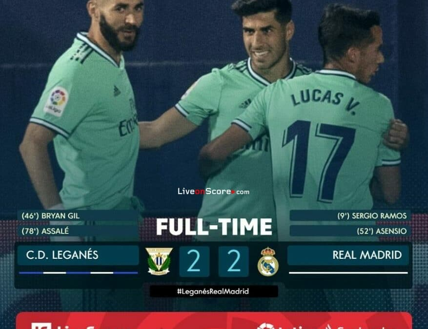 Leganes 2-2 Real Madrid Full Highlight Video – LaLiga Santander