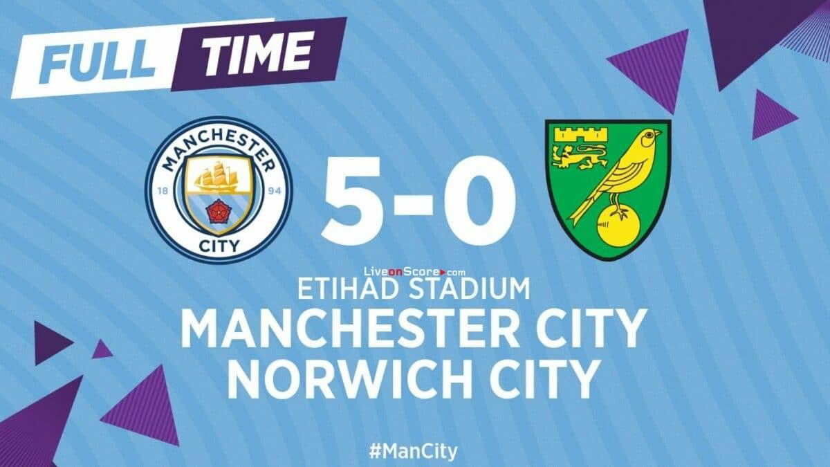 Manchester City 5-0 Norwich Full Highlight Video – Premier League