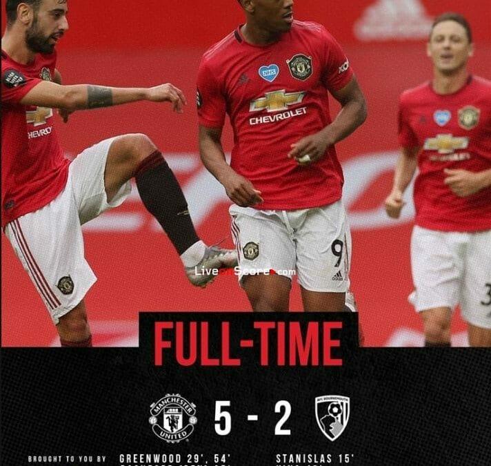 Manchester Utd 5-2 Bournemouth Full Highlight Video – Premier League