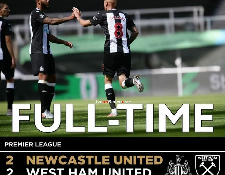 Newcastle 2-2 West Ham Full Highlight Video – Premier League