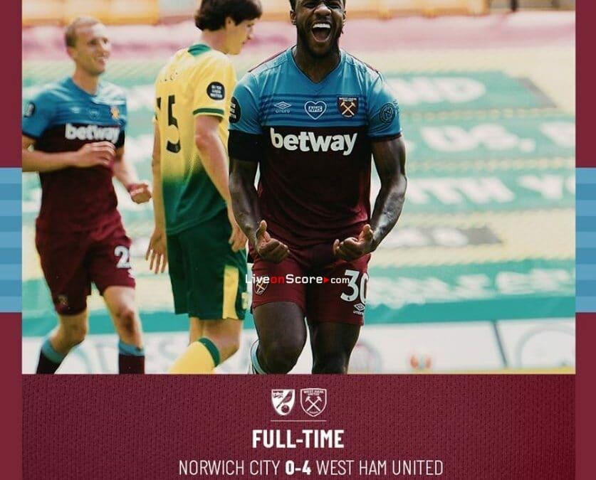Norwich 0-4 West Ham Full Highlight Video – Premier League