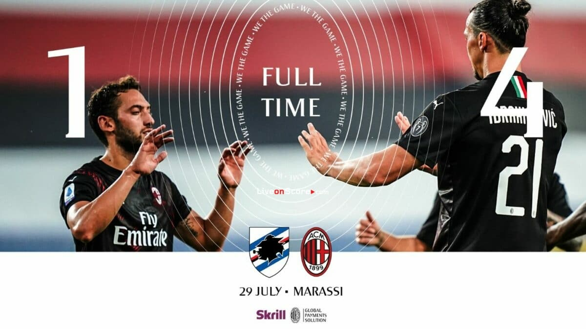 Sampdoria 1-4 AC Milan Full Highlight Video – Serie Tim A