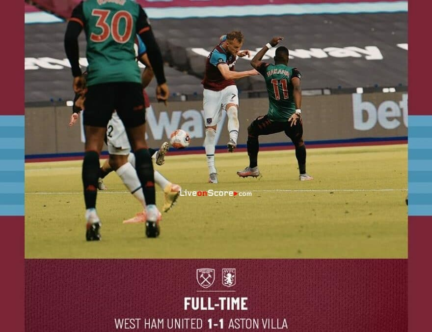 West Ham 1-1 Aston Villa Full Highlight Video – Premier League