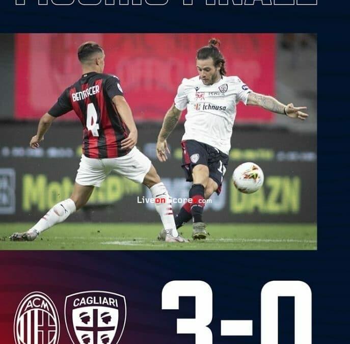 AC Milan 3-0 Cagliari Full Highlight Video – Serie Tim A