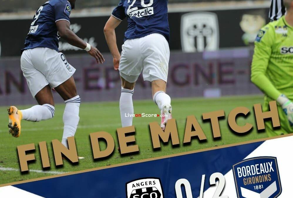 Video destacado completo de Angers 0-2 Burdeos - Francia Ligue 1