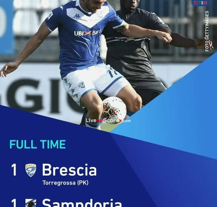 Brescia 1-1 Sampdoria Full Highlight Video – Serie Tim A