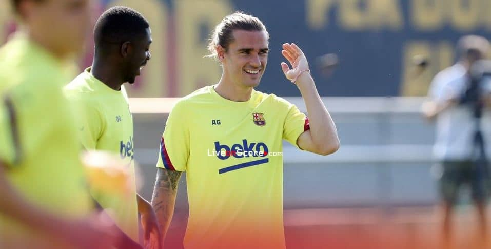 Dembele and Griezmann complete part of session with rest of squad